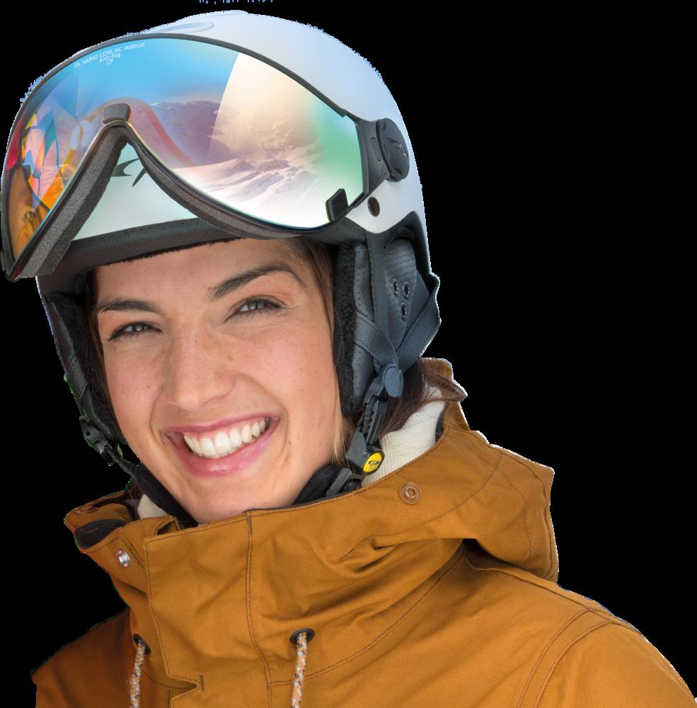 skihelm met bril of skihelm met vizier met zijn vele voordelen